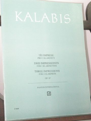 Kalabis V - Three Impressions for 2 Clarinets Op 87